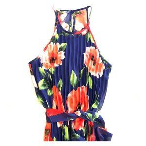 Blue floral B. Darlin maxi dress